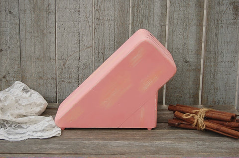 Peach knife block - The Vintage Artistry