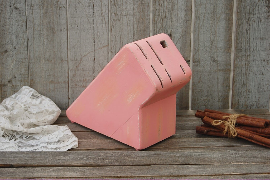 Peach knife block
