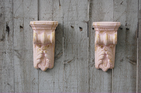 Pink shabby chic drapery sconces