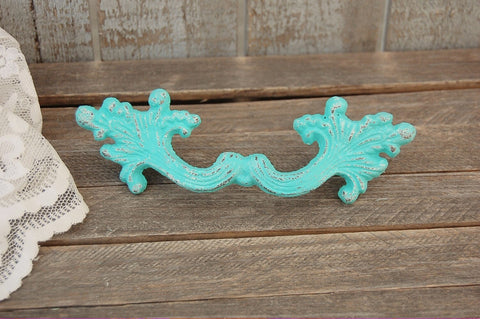 Aqua French provincial drawer pulls