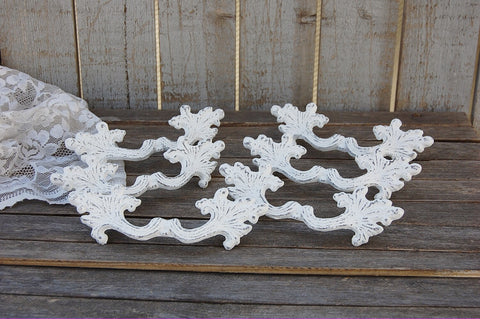 White French provincial drawer pulls