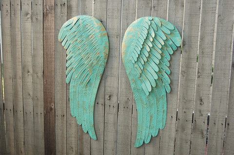 Large angel wings wall decor - The Vintage Artistry