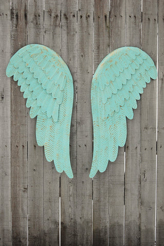 Mint green angel wings - The Vintage Artistry