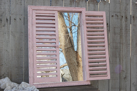 Pink window mirror