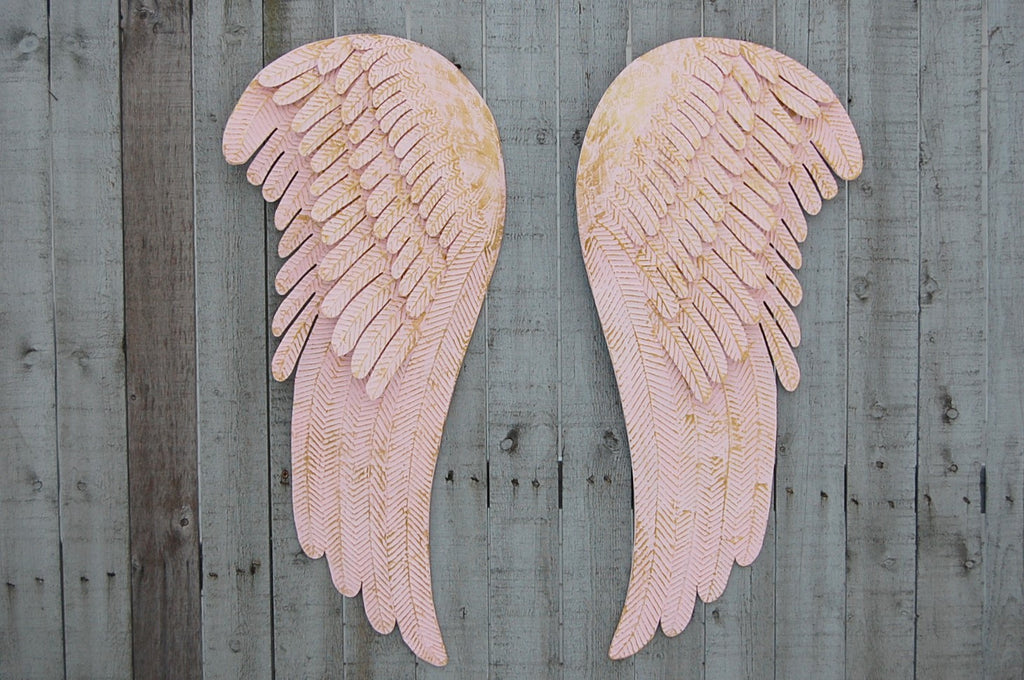 Rustic Pink Angel Wings The Vintage Artistry