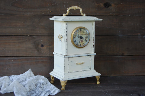 French shabby chic clock