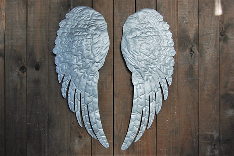 Rustic silver wings