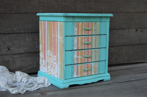 Tropical beach jewelry box