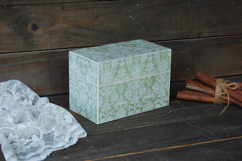 Damask recipe box