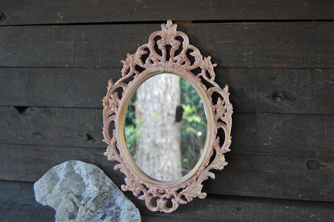 Pink & gold mirror - The Vintage Artistry