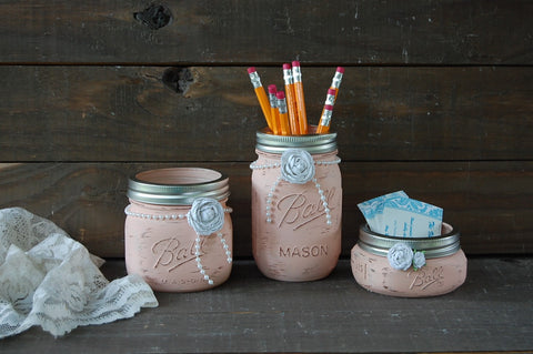 Dusty rose desk set