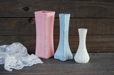 Blush & grey vases