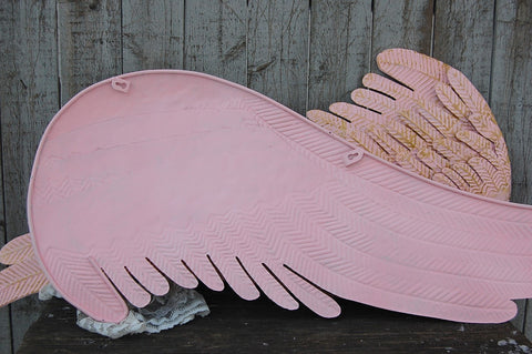 Rustic pink angel wings