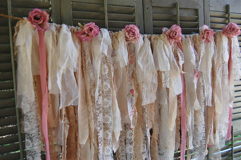 Ivory rose lace garland - The Vintage Artistry