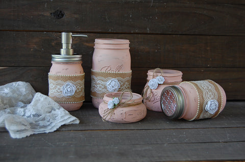 Dusty rose bath set