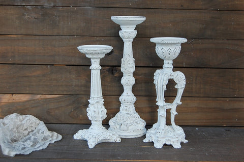 Rustic pillar holders