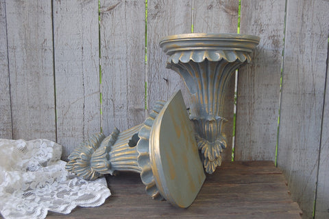 Grey & gold drapery sconces