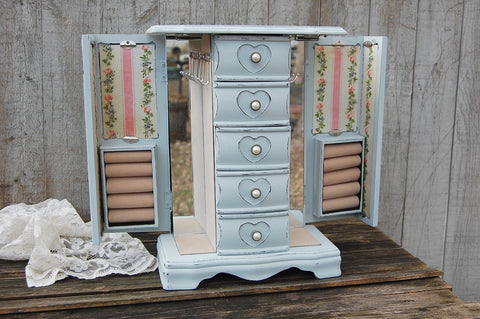 Grey & pink jewelry armoire