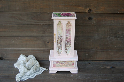 Pink jewelry armoire