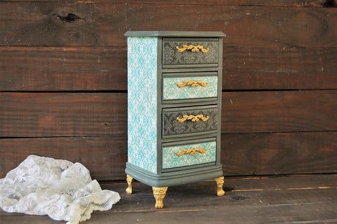 Grey French jewelry chest