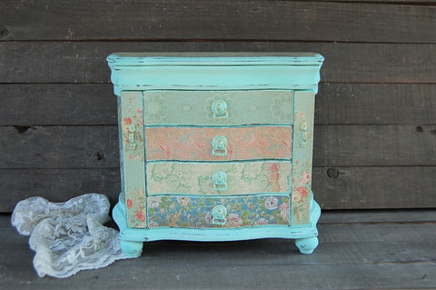 Large mint jewelry armoire