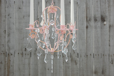 Pink Candle Chandelier