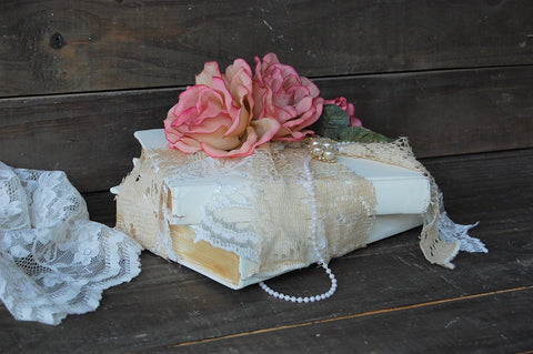 Embellished book decor