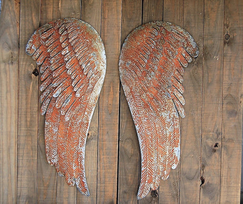 Rustic angel wings