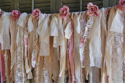 Ivory rose lace garland