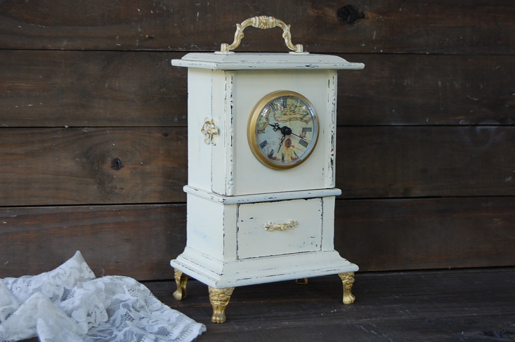 French shabby chic clock - The Vintage Artistry