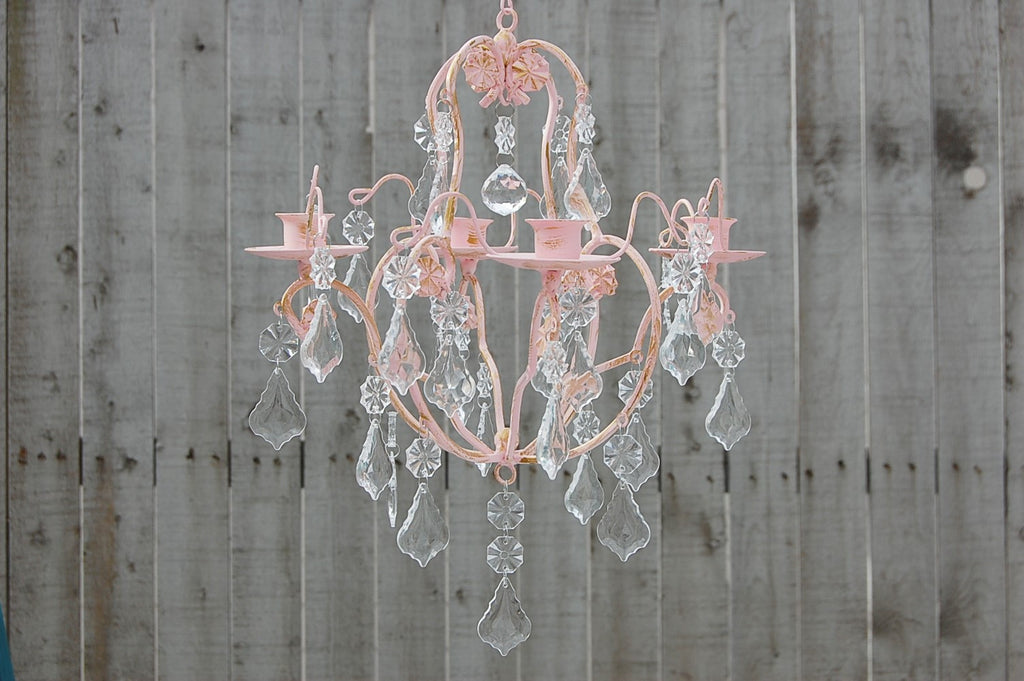 Pink Candle Chandelier - The Vintage Artistry