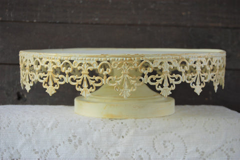 Ivory & gold cake stand