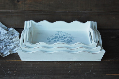 Rustic French trays