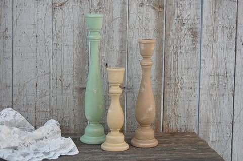 Earth tone candlesticks