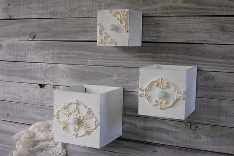 Rustic wall boxes