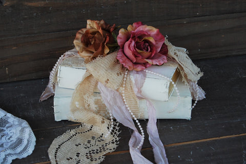Embellished book decor - The Vintage Artistry