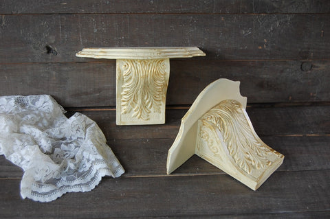 Ivory & gold shelves