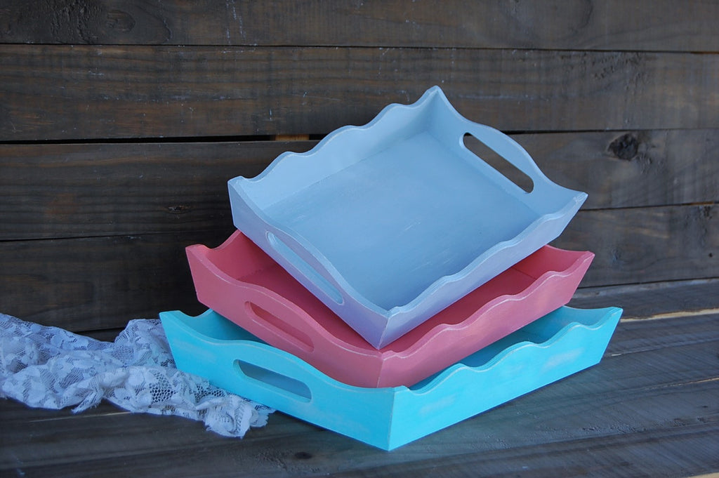 Painted nesting trays - The Vintage Artistry