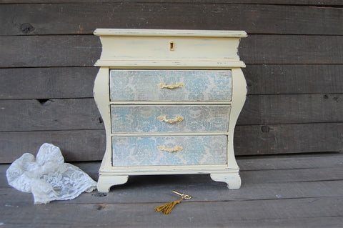 French bombe chest - The Vintage Artistry