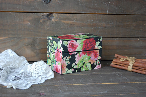 Decoupage recipe box - The Vintage Artistry