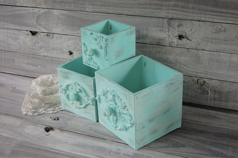 Mint wall boxes - The Vintage Artistry