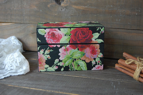 Decoupage recipe box