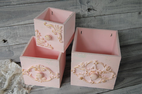 Shabby chic wall boxes