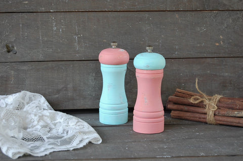 Mint & coral grinder set - The Vintage Artistry