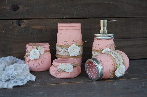 Peach bath set