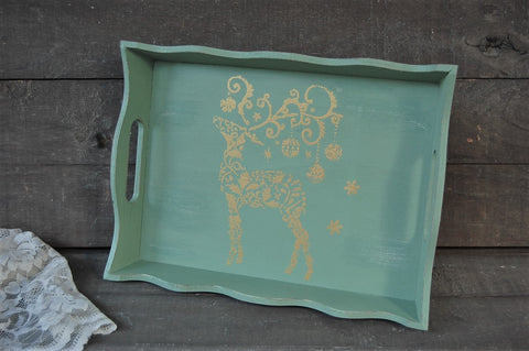 Christmas trays - The Vintage Artistry