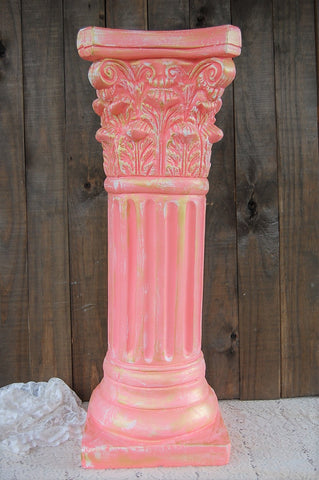 Coral & gold column - The Vintage Artistry