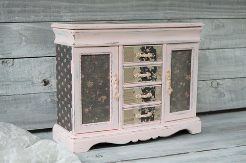 Pink & black jewelry box
