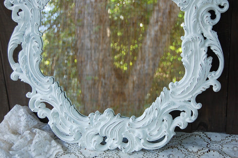 White shabby chic mirror