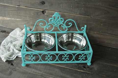 French pet bowl set